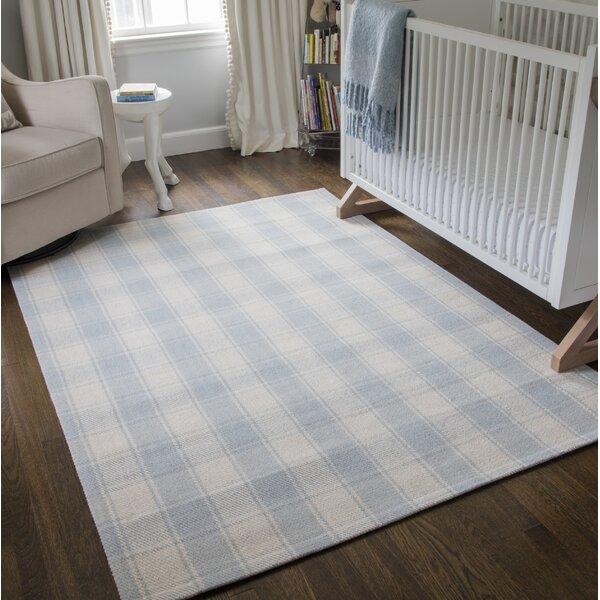 Marlborough Charles Hand-Woven Wool Light Blue Area Rug by Erin Gates by Momeni