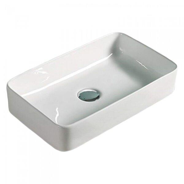 Ceramic Rectangular Vessel Bathroom Sink