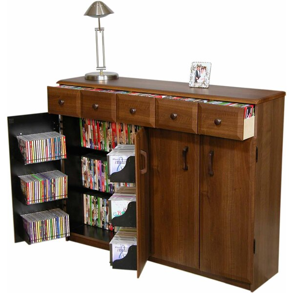Multimedia Cabinet With Library Style Drawers By Red Barrel Studio