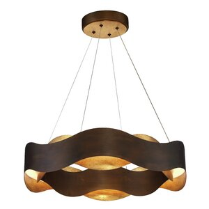 Bridget Metal Waves LED 1-Light Drum Chandelier