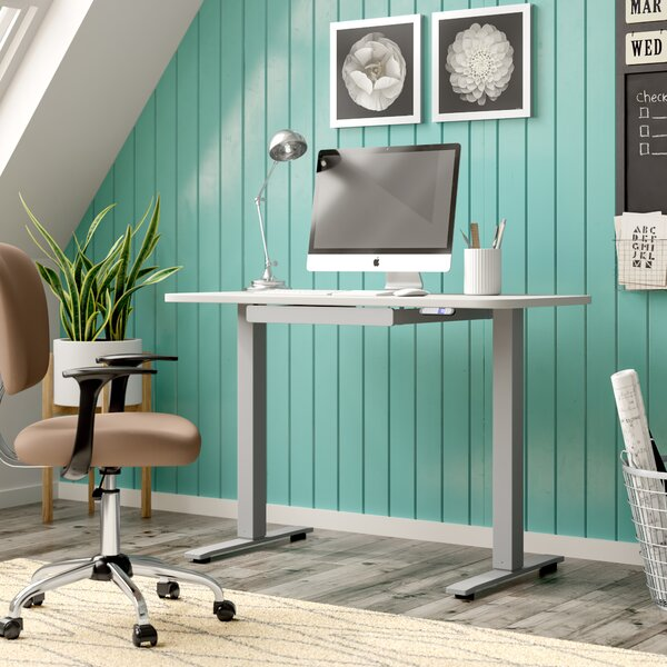 Electric Height Adjustable Standing Desk by Symple Stuff