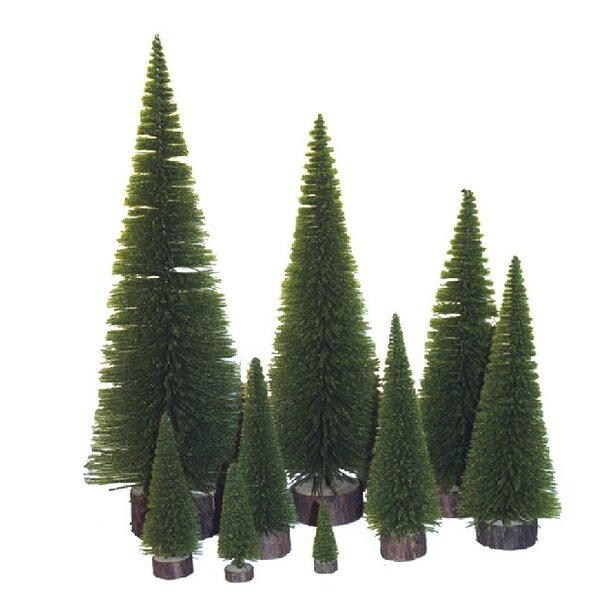 Village Flocked 20 Moss Green Pine Tree Artificial