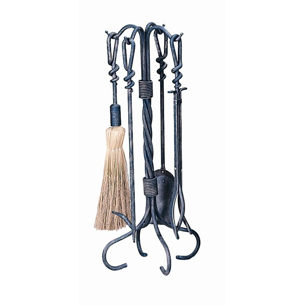 4 Piece Antique Tool Set With Stand by Uniflame Corporation