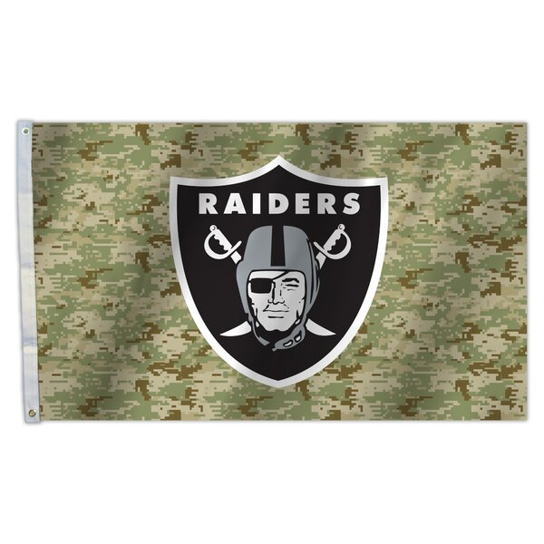 NFL Camo Polyester 1 x 9 Flag by Fremont Die