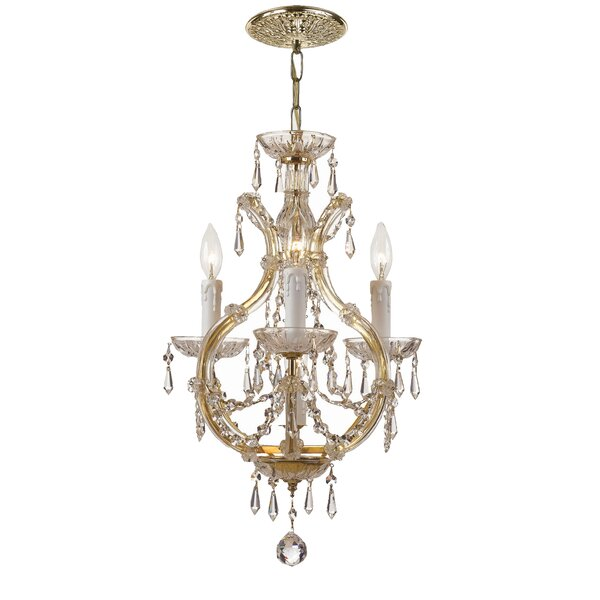 Griffiths 3 - Light Candle Style Empire Chandelier by House of Hampton House of Hampton