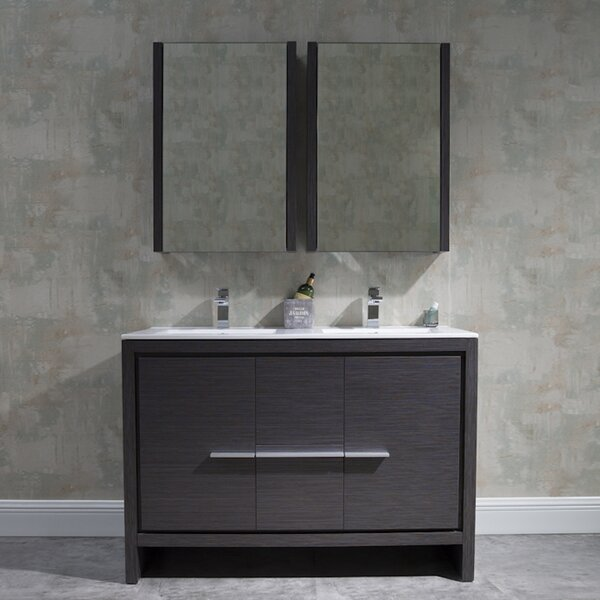 Artemis 48 Double Bathroom Vanity Set with Mirror
