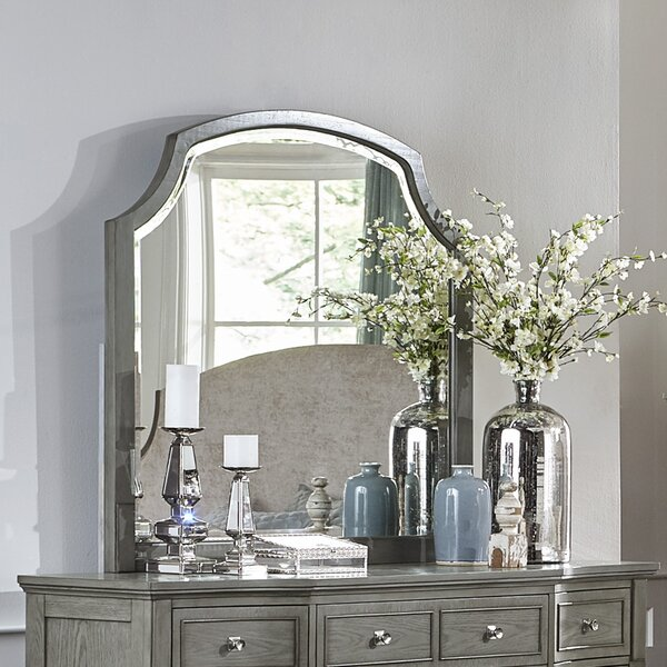 Langdon-Gray Arched Dresser Mirror by One Allium Way