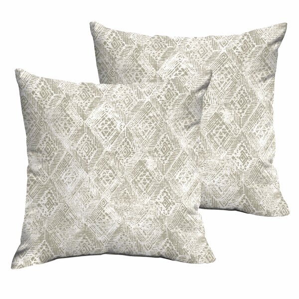 Caterina Indoor/Outdoor Throw Pillow (Set of 2) by World Menagerie