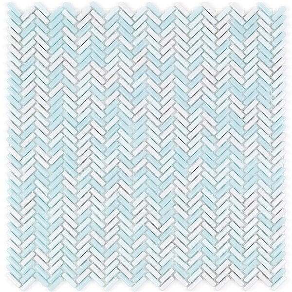 Recoup 12 x 12 Glass Mosaic Tile in Glacier by Splashback Tile