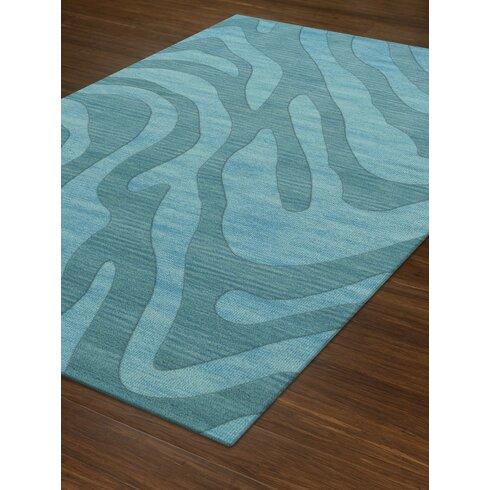 dalyn rug co dover tufted wool peacock area rug wayfair