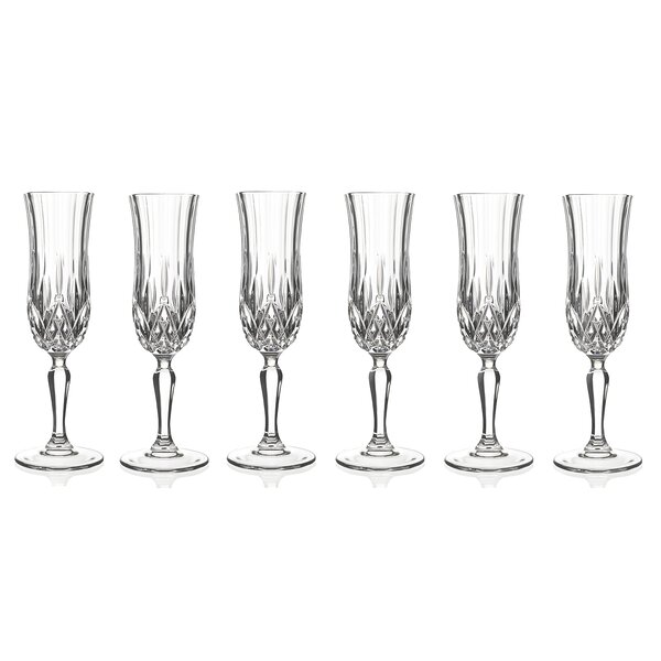Opera Champagne Flute (Set of 6) by Lorren Home Trends