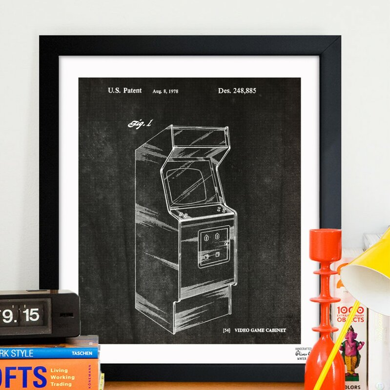 Game cabinet 1978 framed graphic art reviews allmodern for Best brand of paint for kitchen cabinets with framed wall art sale
