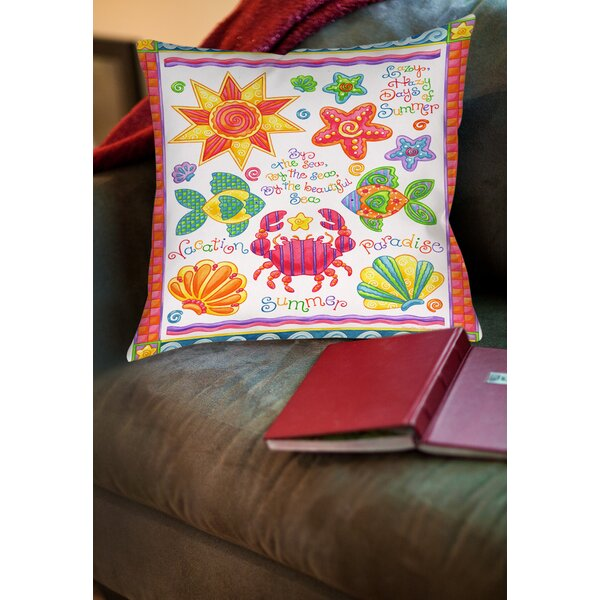 By the Sea Printed Throw Pillow by Manual Woodworkers & Weavers