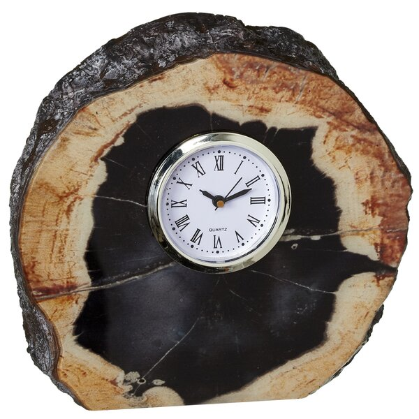 Faux Agate Tabletop Clock by Mercer41