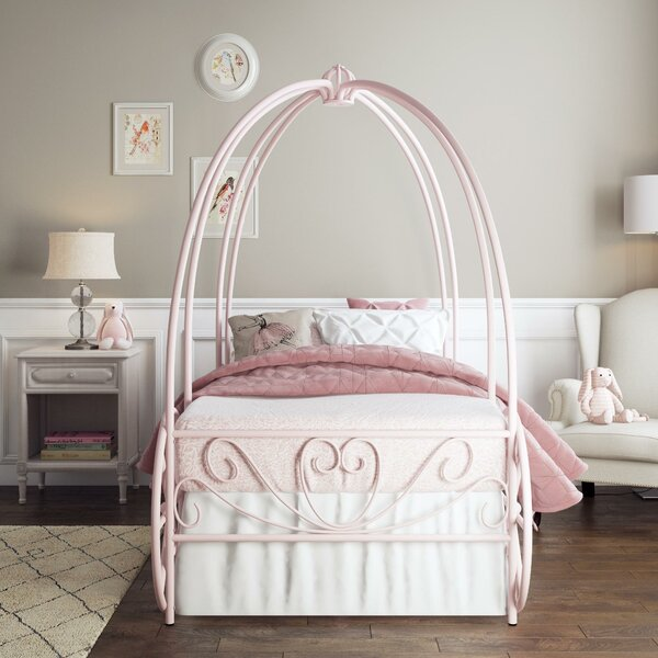 German Twin Canopy Bed By Zoomie Kids