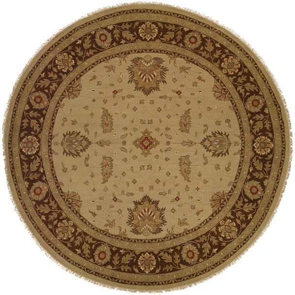 Dhenkanal Hand-Knotted Camel / Brown Area Rug
