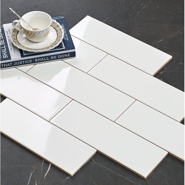 Hudson 4 x 12 Ceramic Subway Tile in Glossy White by Walkon Tile