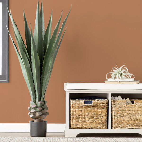 Artificial Giant Agave Floor Plant in Pot by Trent Austin Design