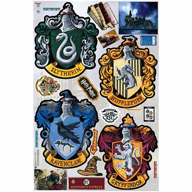 Fathead Harry Potter Hogwarts House Sigils Peel And Stick Wall Decal