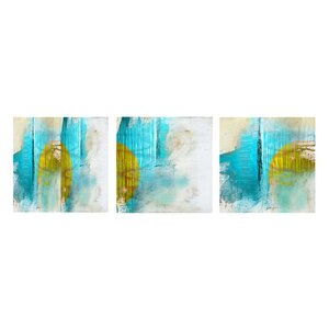 Abstract 3 Piece Graphic Art on Canvas Set by Ready2hangart