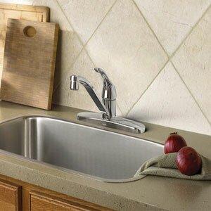 Adler Single handle Kitchen Faucet by Moen