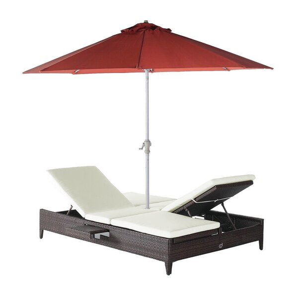 Cephas Double Chaise Lounge by Rosecliff Heights