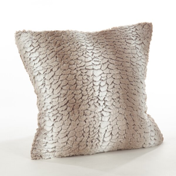 Branchville Glam Faux Fur Throw Pillow by Greyleigh