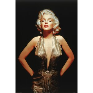 'Marilyn Monroe Gold Dress' by Corbis Photographic Print on Wrapped Canvas by Buy Art For Less