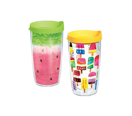 2 Piece 16 oz. Plastic Travel Tumbler Set by Tervis Tumbler