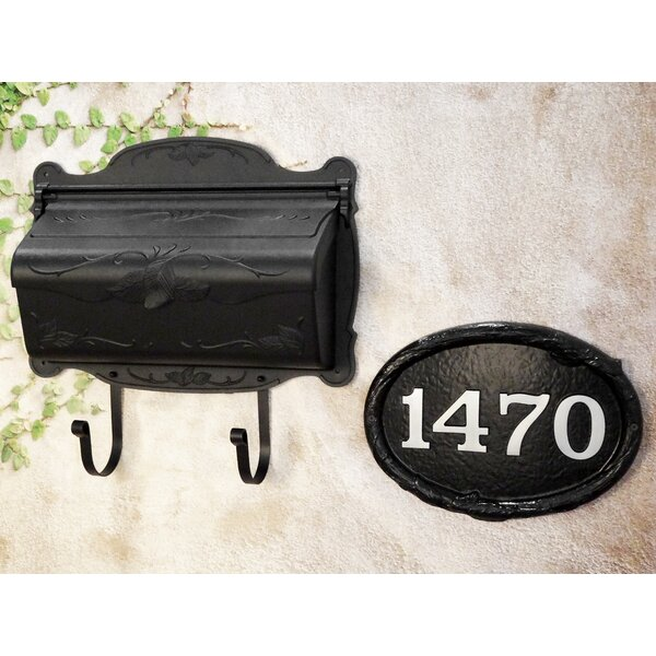 Floral Horizontal Wall Mount Mailbox with Address Plaque by Special Lite Products