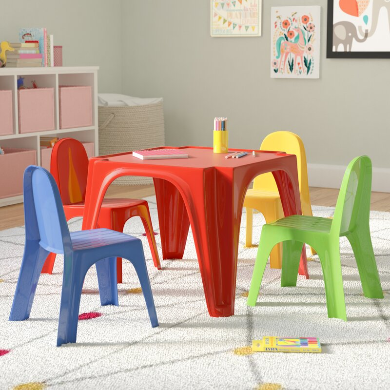 Zoomie Kids Karissa Kids Play Table and Chair Set & Reviews | Wayfair