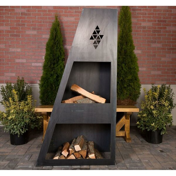 Sun King Steel Wood Burning Outdoor fireplace by Ember Haus