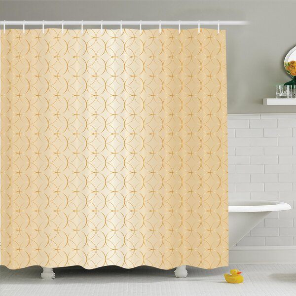 Geometric Shower Curtain Set by Ambesonne