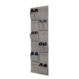 Find for Hanging Arrow Weave Canvas 12 Pair Overdoor Shoe Organizer By Rebrilliant