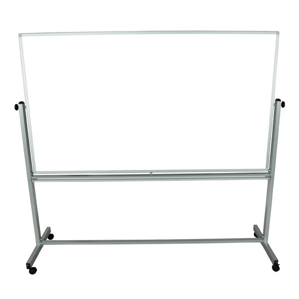 Reversible Magnetic Mobile Whiteboard, 40 x 72 by Offex