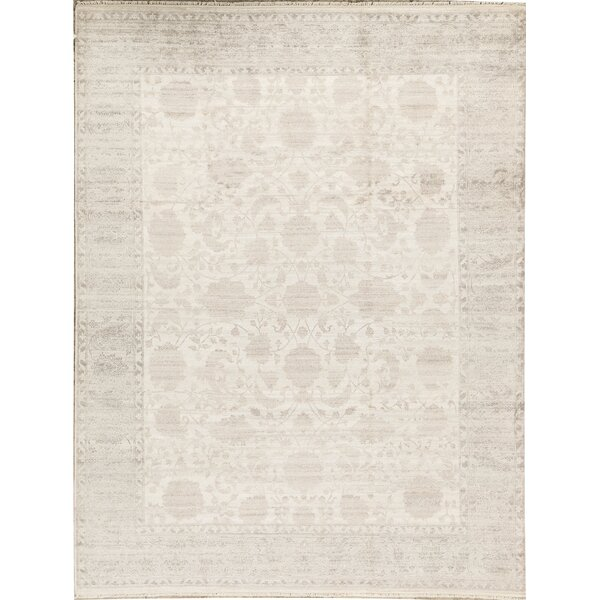 Luxa Oriental Hand-Knotted Ivory/Gray Area Rug