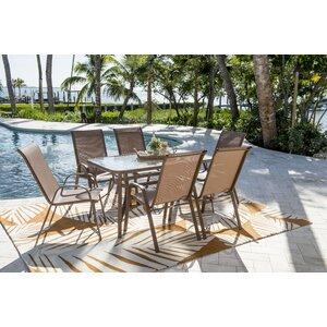 Cafu00e9 Dining Set (Set of 7)
