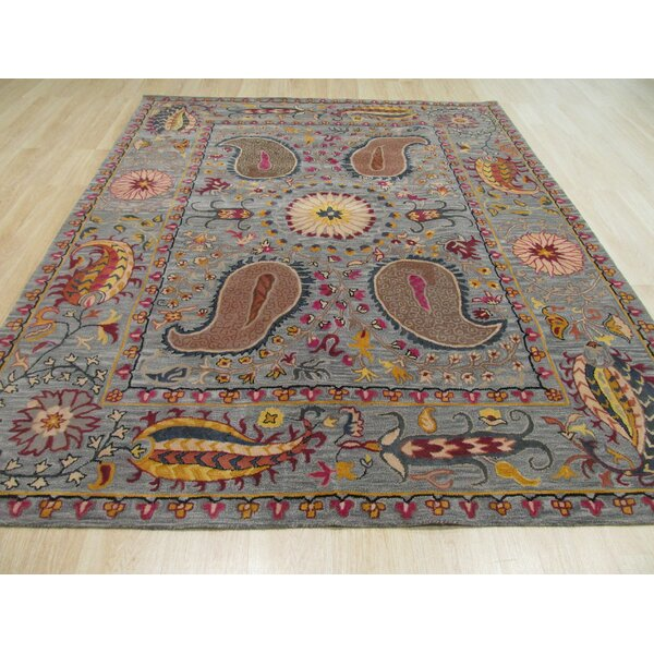 Colleen Hand Tufted Blue Area Rug by The Conestoga Trading Co.
