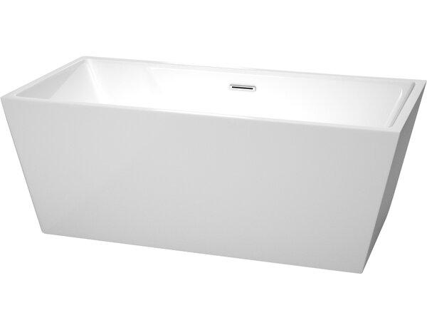 Sara 63 x 31.5 Freestanding Soaking Bathtub by Wyndham Collection