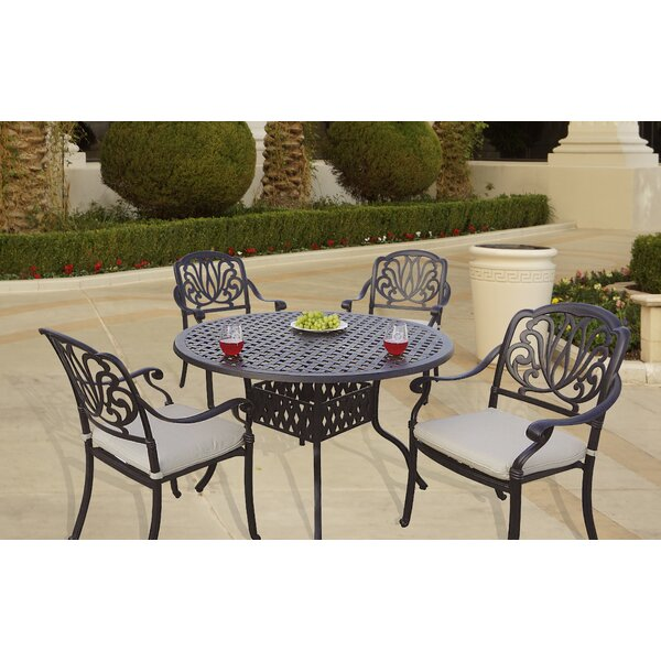 Laszlo 5 Piece Dining Set with Cushions by Darby Home Co