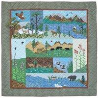 Natures Splendor Cotton Twin Reversible Quilt