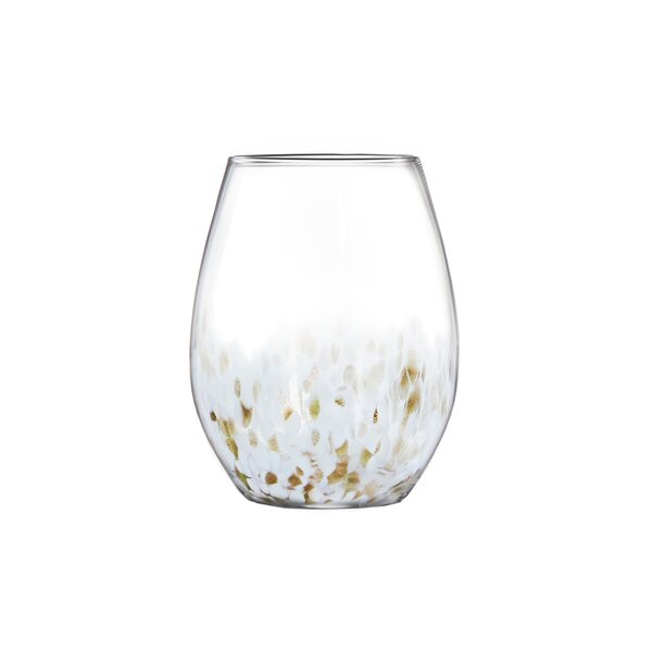 Hannah 15oz Stemless Goblets Every Day Glasses (Set of 4) by Fitz and Floyd