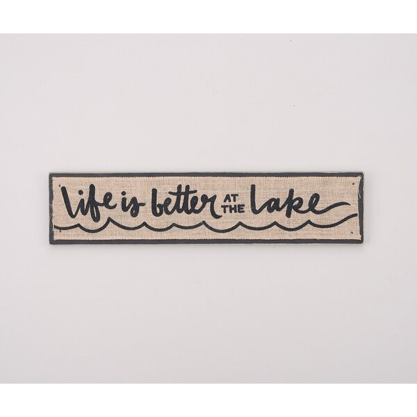 Better at the Lake Textual Art by Glory Haus