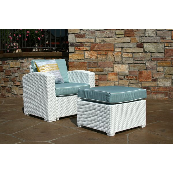 Loggins Patio Chair with Cushion and Ottoman by Brayden Studio Brayden Studio