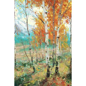 'Aspen Symphony' Painting Print on Wrapped Canvas by Three Posts