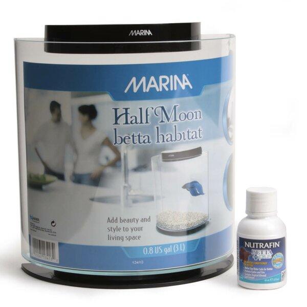 Marina 0.8 Gallon Half-Moon Betta Aquarium Kit by Marina by Hagen