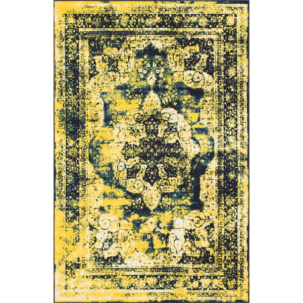 Brandt Navy Blue/ Yellow Area Rug by Mistana
