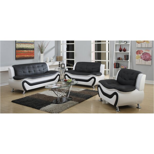 Machelle 3 Piece Living Room Set by Orren Ellis