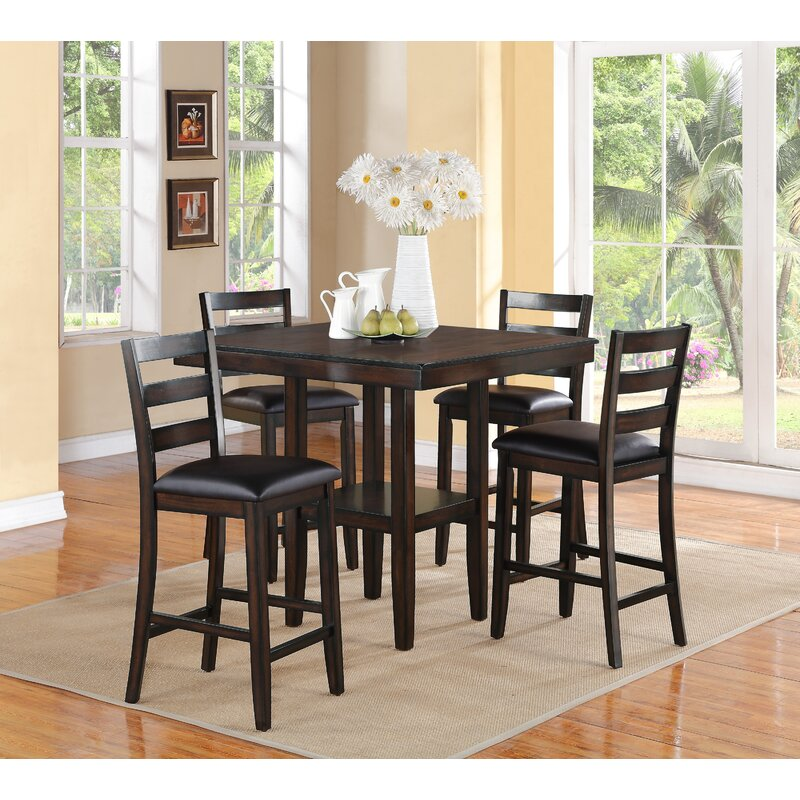 crown mark tahoe 5 piece counter height dining set & reviews | wayfair Counter Height Dining Set
