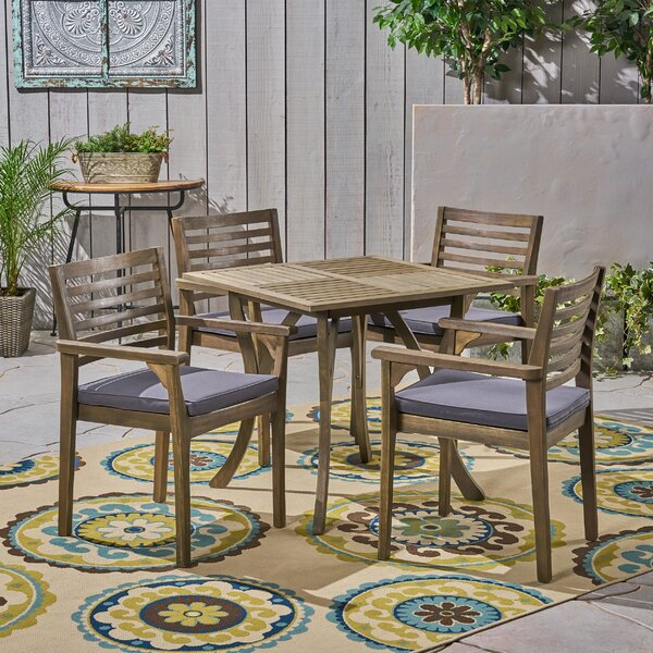 Restivo 5 Piece Dining Set with Cushions by Breakwater Bay